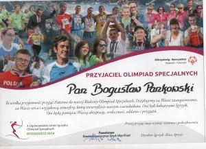 OLIMPIADY SPECJALNE Referencje Pankowski Catering