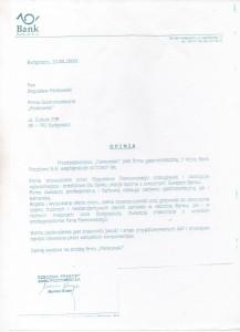 Bank Pocztowy Referencje Pankowski Catering