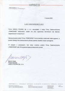 HASCO Referencje Pankowski Catering