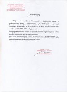 Inspekcja Wetereynaryjna w Bydgoszczy Referencje Pankowski Catering