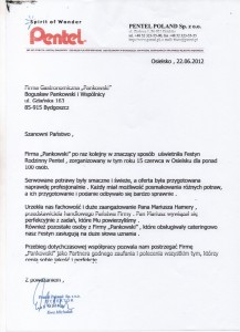 Pentel Referencje Pankowski Catering