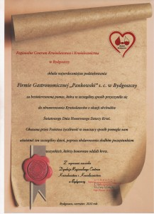 Regionalne Centrum Krwiodawstwa w Bydgoszczy Referencje Pankowski Catering